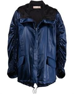 Куртка со сборками и капюшоном Marni
