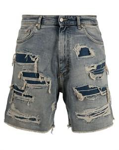 Джинсовые шорты с прорезями Represent
