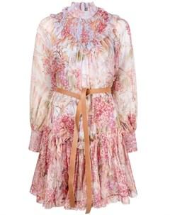 Платье мини Botanica со сборками Zimmermann