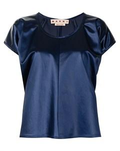 Атласная блузка с пышными рукавами Marni