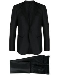 Фактурный костюм с однобортным пиджаком Emporio armani