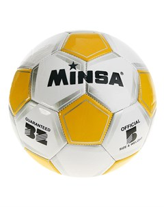 Мяч футбольный classic 32 панели pvc 3 подслоя машинная сшивка Minsa