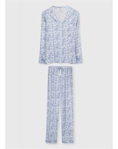 Пижама из вискозы с принтом Ostin