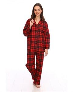 Пижама фланелевая Хизер красная Инсантрик
