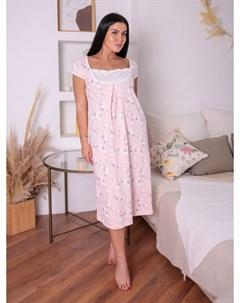 Ночная сорочка Беатриса светло розовая Инсантрик