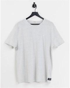 Серая фактурная футболка Tom tailor