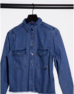 Джинсовая рубашка в стиле вестерн с необработанными краями Georgia Salsa