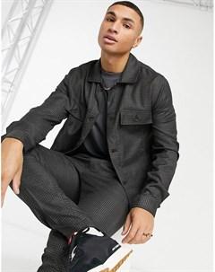Бордовая куртка в строгом стиле в мелкую клетку от комплекта Asos design