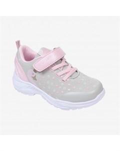 Кроссовки для девочки Kapika серый розовый Mothercare