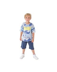 Комплект для мальчика футболка шорты Космос К2752 Crockid