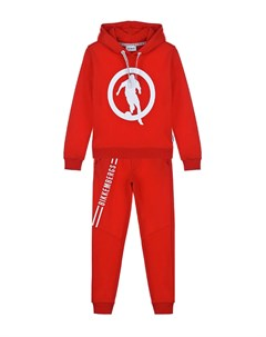 Красный спортивный костюм с логотипом детский Bikkembergs