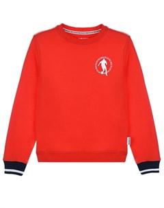 Красный свитшот с логотипом детский Bikkembergs