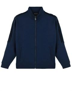 Синия спортивная куртка на молнии детская Emporio armani