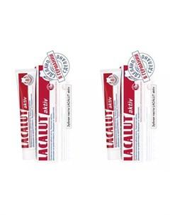 Набор Зубная паста Актив 50 мл 2 штуки Зубные пасты Lacalut