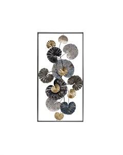 Панно декоративное листья мультиколор 69x135x8 см Garda decor