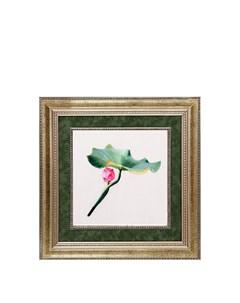 Картина Изящество лотоса Живой шелк