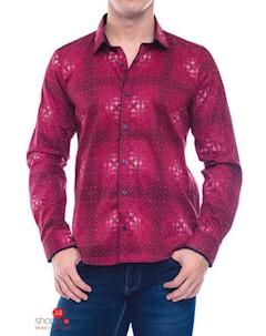 Рубашка цвет малиновый Enisse