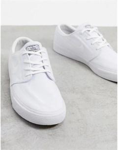 Белые парусиновые кроссовки Zoom Janoski Premium Nike sb