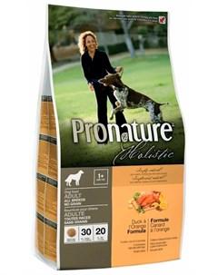 Holistic Dog Adult All Breeds No Grain беззерновой для взрослых собак всех пород с уткой и апельсино Pronature