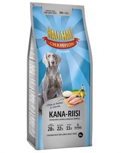 Champion Dog Adult Large Breed Chicken Rice для взрослых собак крупных пород с курицей и рисом 15 кг Hau-hau