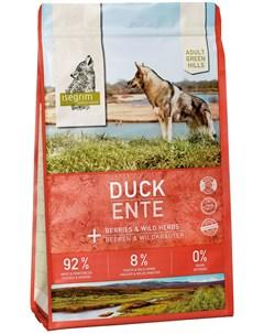 Adult Green Hills Duck беззерновой для взрослых собак с уткой и ягодами 3 кг Isegrim