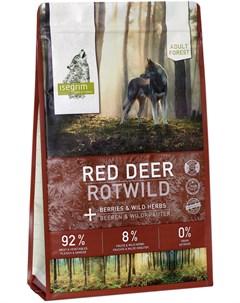 Adult Forest Red Deer беззерновой для взрослых собак с олениной и ягодами 12 кг Isegrim