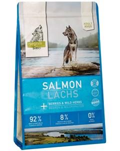 Adult River Salmon беззерновой для взрослых собак с лососем и ягодами 3 кг Isegrim