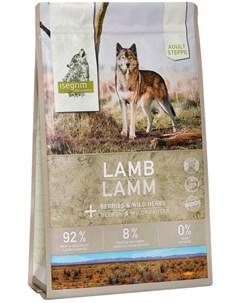 Adult Steppe Lamb беззерновой для взрослых собак с ягненком и ягодами 3 кг Isegrim