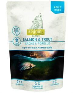 Roots Adult River беззерновые для взрослых собак с лососем и форелью 410 гр Isegrim