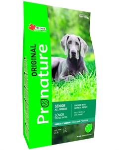 Original Dog Senior для пожилых собак всех пород с курицей и овсом 20 кг Pronature