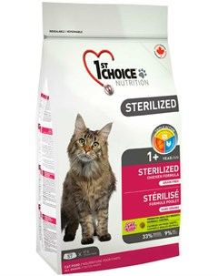 Cat Adult Sterilized беззерновой для взрослых кастрированных котов и стерилизованных кошек с курицей 1st choice