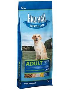 Regular Dog Adult для взрослых собак всех пород с курицей и рисом 12 кг Hau-hau