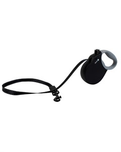 Adventure XS Поводок рулетка для собак до 11 кг лента черная Alcott