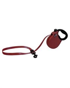 Adventure XS Поводок рулетка для собак до 11 кг лента бордо Alcott