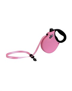 Adventure S Поводок рулетка для собак до 20 кг лента розовая Alcott