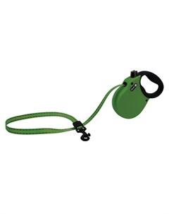 Adventure S Поводок рулетка для собак до 20 кг лента зеленая Alcott