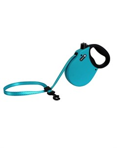 Adventure M Поводок рулетка для собак до 30 кг лента голубая Alcott