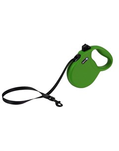 Wanderer M Поводок рулетка для собак до 30 кг лента зеленая Alcott