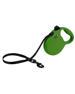 Wanderer L Поводок рулетка для собак до 50 кг лента зеленая Alcott