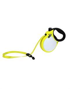 Visibility S Поводок рулетка для собак до 20 кг лента чёрно жёлтая Alcott