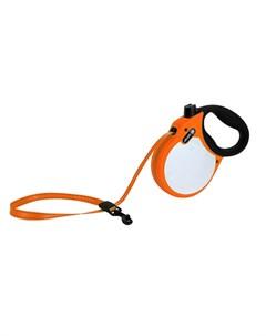 Visibility S Поводок рулетка для собак до 20 кг лента оранжевая Alcott
