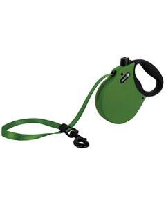 Adventure L Поводок рулетка для собак до 50 кг лента зеленая Alcott
