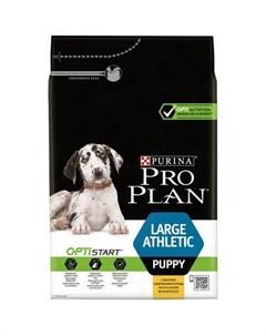 OptiStart Large Athletic Puppy Сухой корм для щенков крупных пород с атлетичным телосложением с кури Pro plan