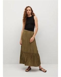 Плиссированная миди юбка Brownie Mango
