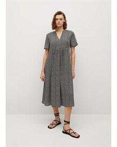 Струящееся платье с цветочным принтом Fibicer i Mango