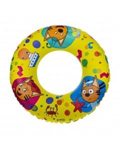 Надувной круг Три Кота двусторонний 56 см 1toy