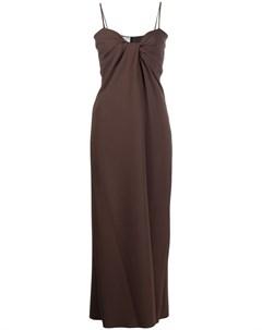 Платье комбинация с драпировкой Valentino