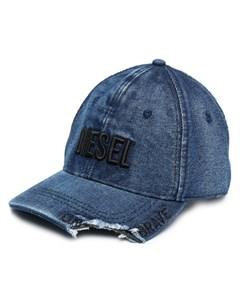Бейсболка с вышитым логотипом Diesel