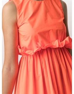 Расклешенное платье с асимметричным подолом Red valentino