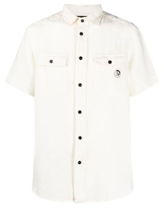 Рубашка с нашивкой логотипом Diesel